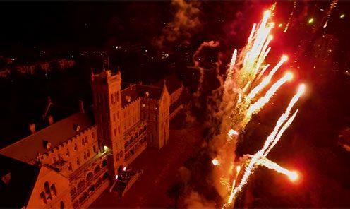 Fireworks At Harry Potter's Castle